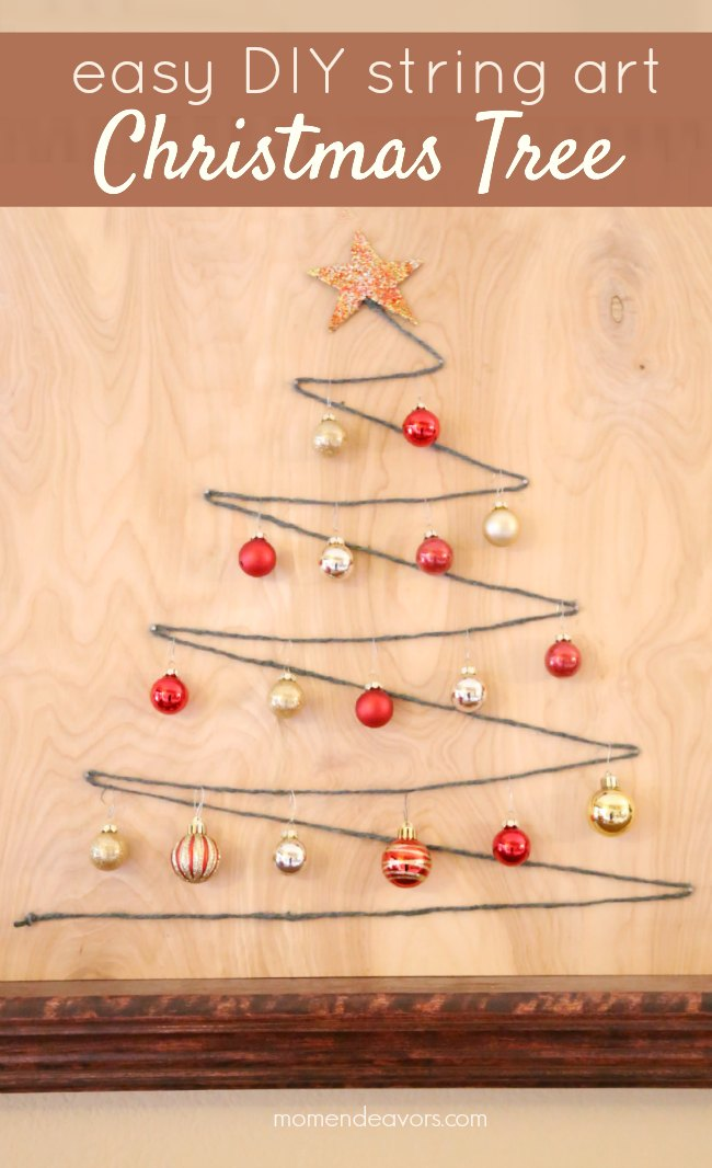 DIY String Art Decorative Christmas Tree