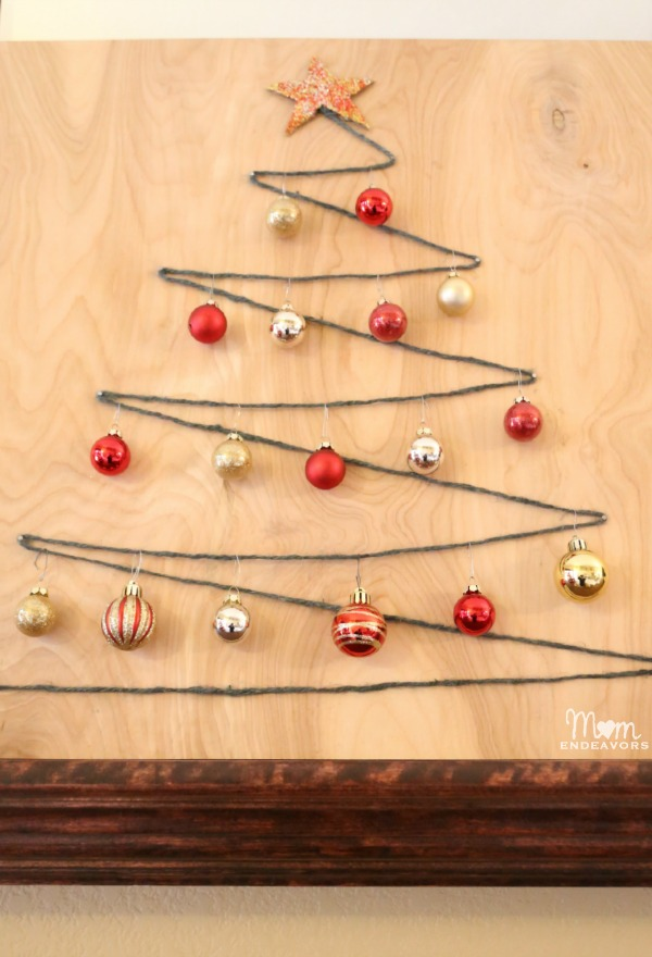 Easy DIY String Art Christmas Tree