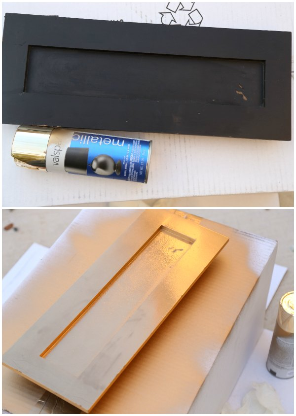 Gold Spray Paint Project