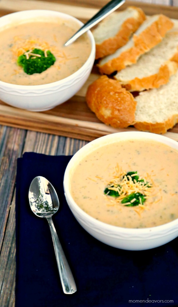 Healthier Slow Cooker Broccoli Cheese Soup