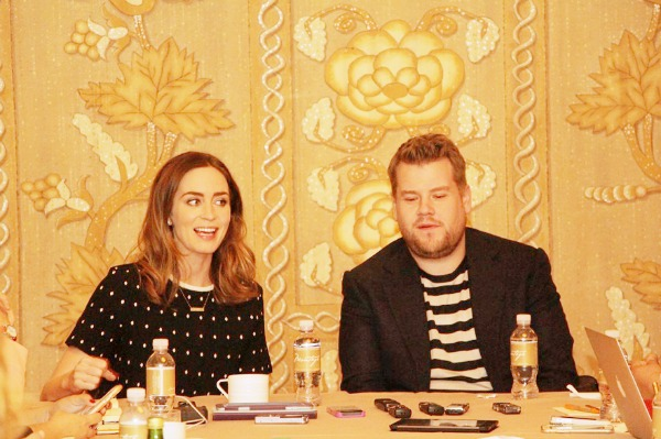 James Corden & Emily Blunt Interview #IntoTheWoodsEvent
