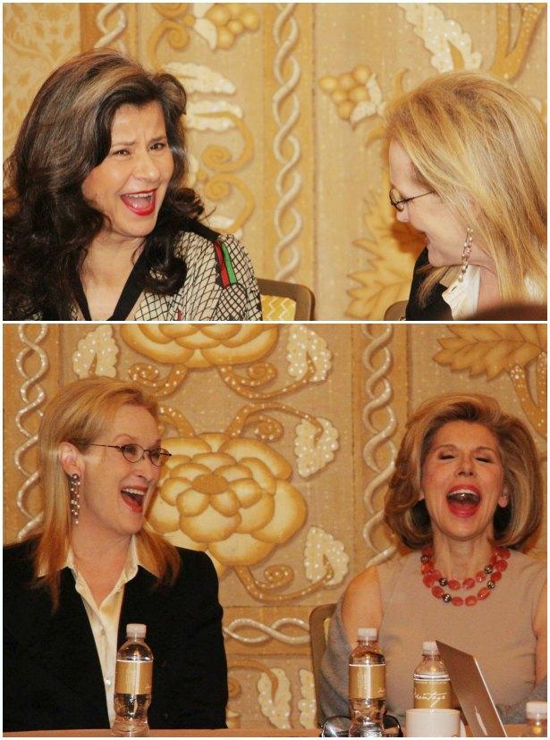 Meryl Streep, Tracey, Ullman, Christine Baranski Friendship
