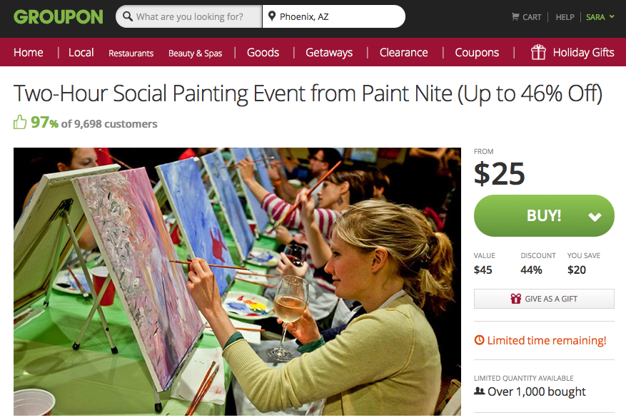 Paint Nite Groupon
