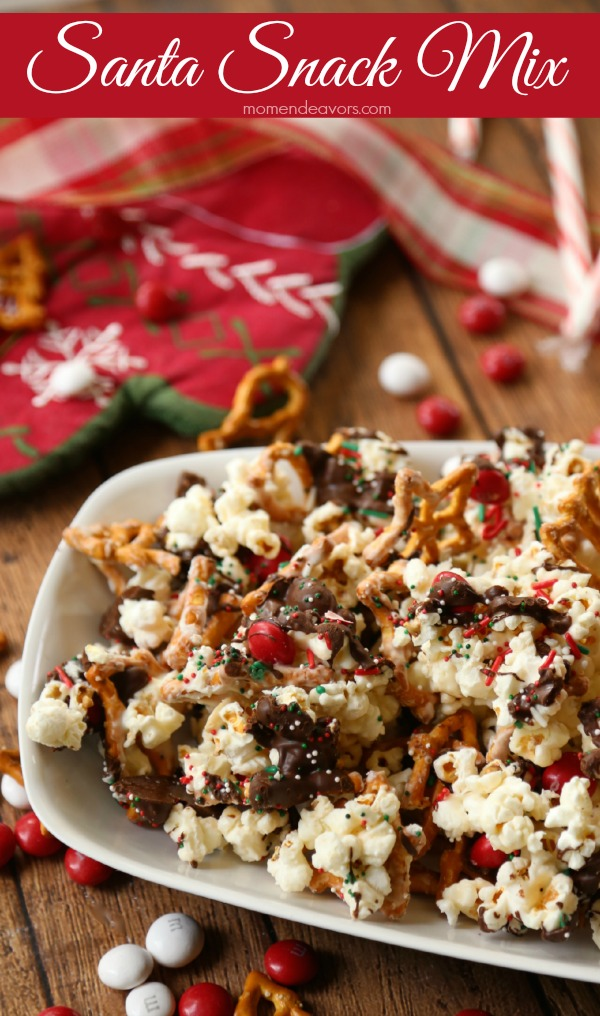 Santa Sweet & Salty Christmas Snack Mix