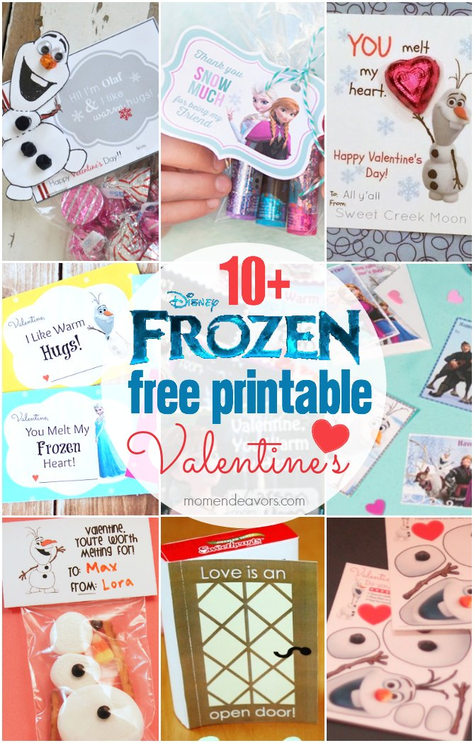 image relating to Free Olaf Printable identified as 10+ Absolutely free Disney FROZEN Printable Valentines