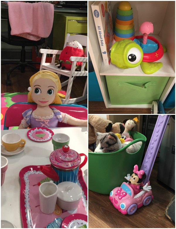 Disney toys on set of Baby Daddy