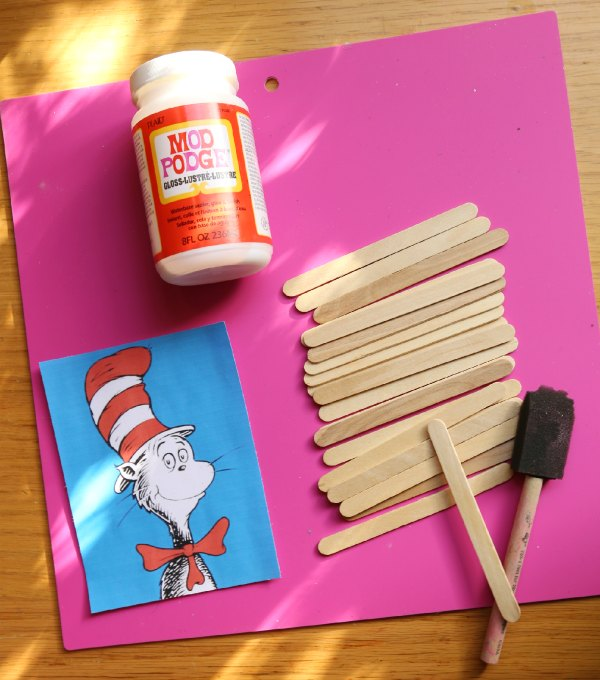Dr. Seuss Craft Stick Puzzle