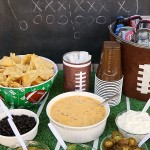 Easy Queso Dip Nacho Bar