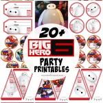 20+ FREE Disney Big Hero 6 Party Printables