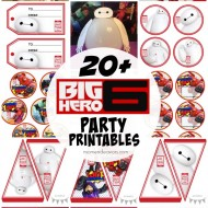 20+ FREE Disney's Big Hero 6 Party Printables!!!