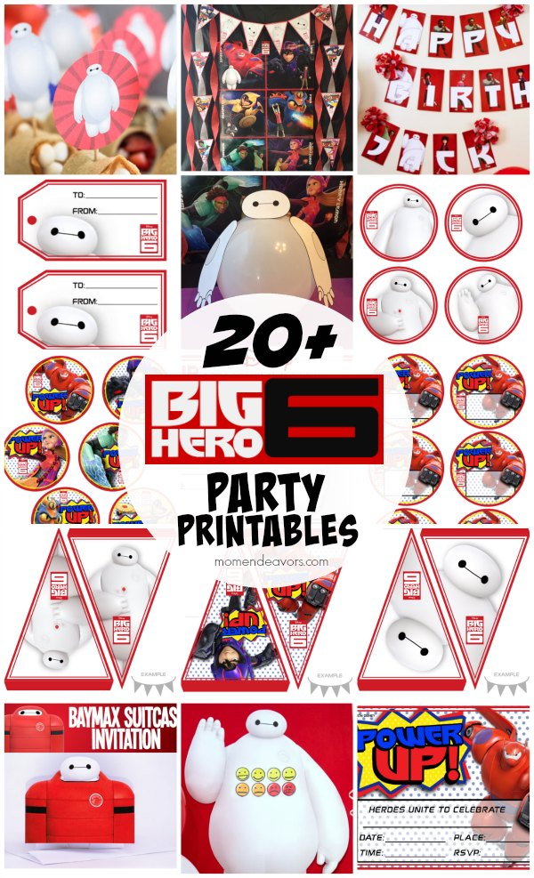 20+ FREE Disney Big Hero 6 Party Printables