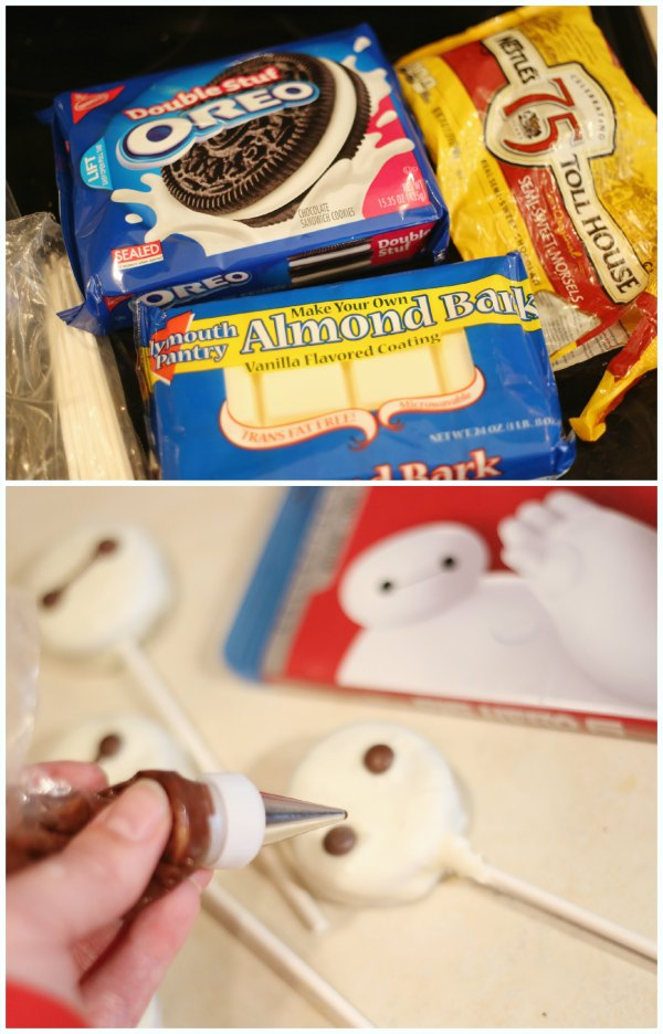 Baymax Cookie Pops Directions