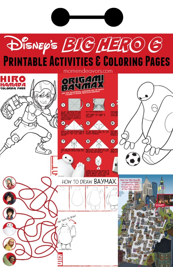 Disneys Big Hero 6 Free Printable Activities Coloring Pages