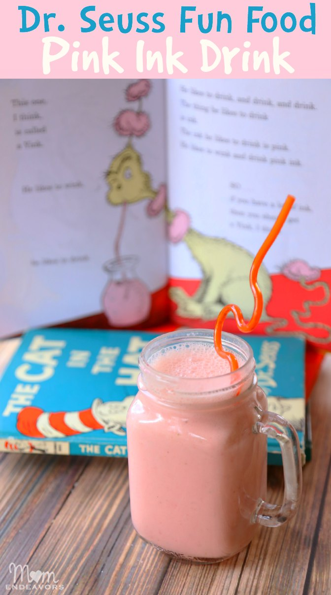 Pink Ink Hey Wardrobe Capsule Over Here Check It Out: Dr. Seuss Fun Food Recipe: Healthy Pink Ink Drink