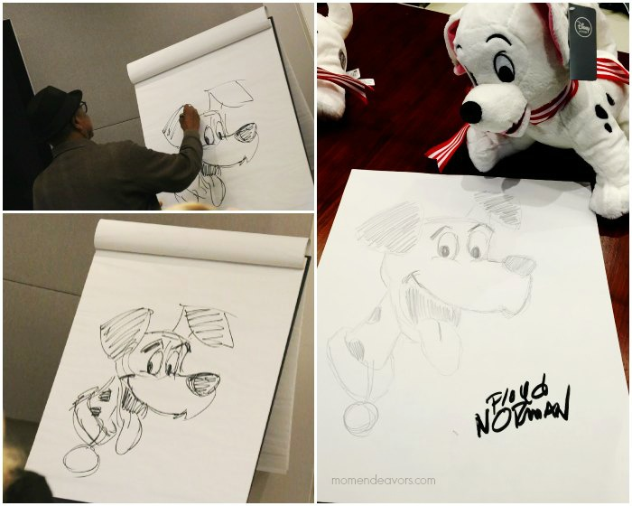 Floyd Norman 101 Dalmations Drawing Demo