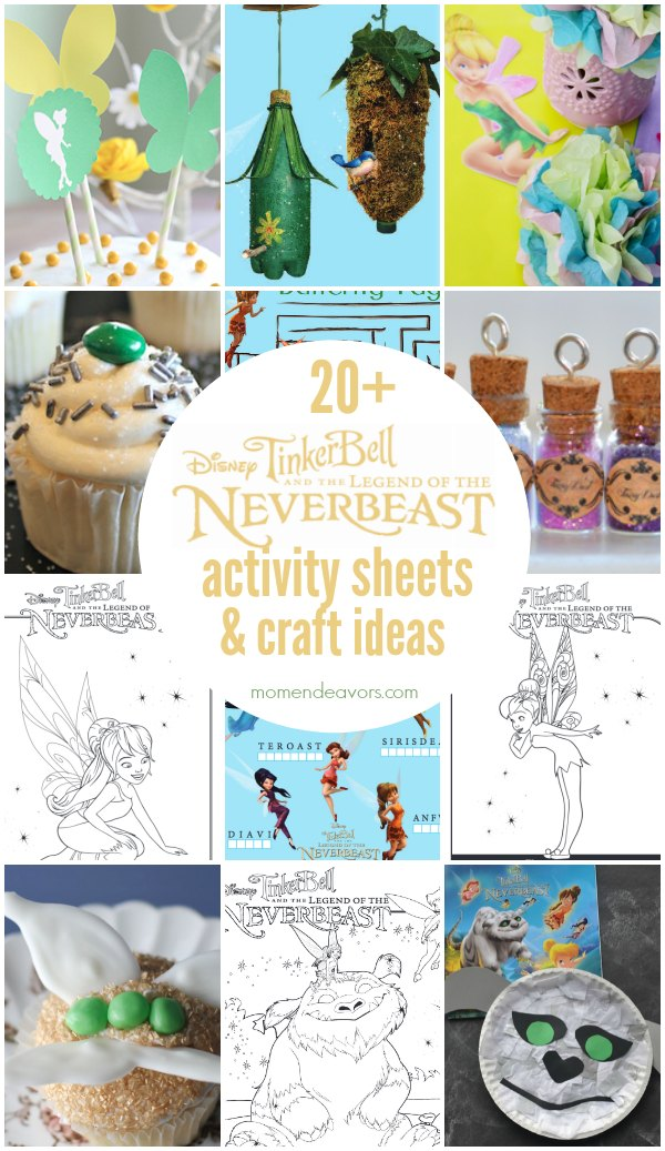 Disney Tinkerbell Legend of the Neverbeast Activity Sheets & Craft Ideas