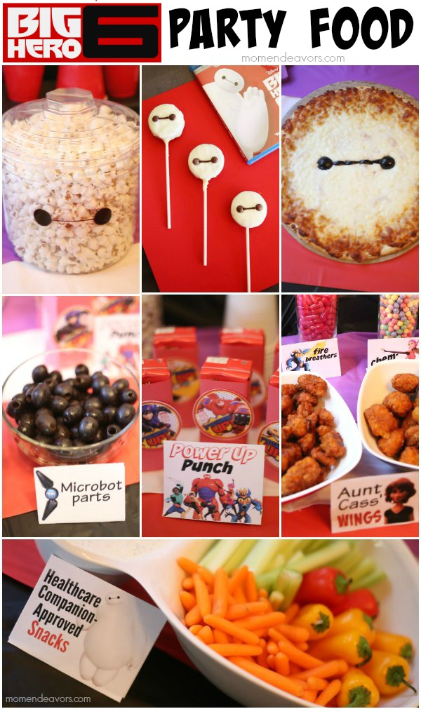 Disney's Big Hero 6 Party Food