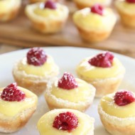 Lemon Raspberry Mini Puff Pastry Tarts