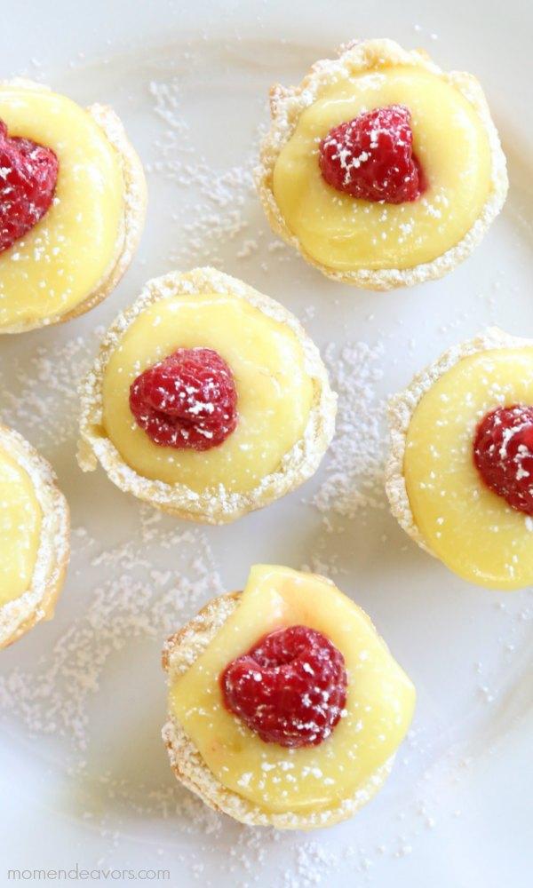 Lemon raspberry tarlets