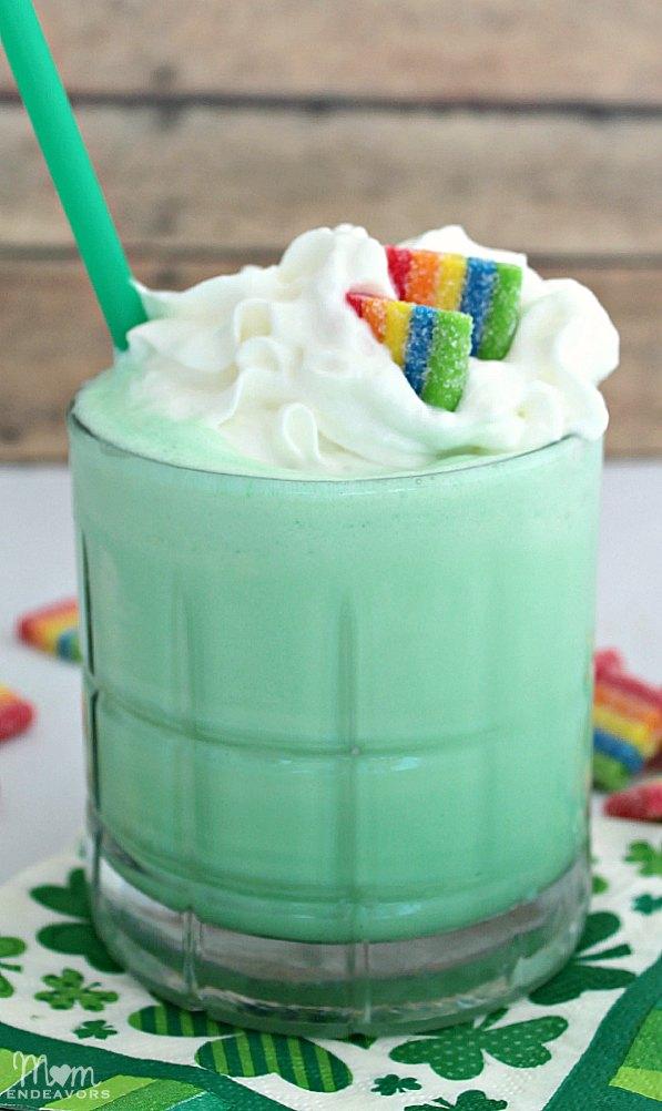 Rainbow Candy Shamrock Shake