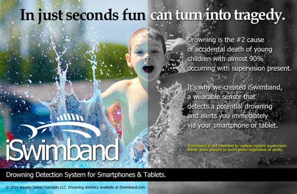 iSwimband Drowning Detection