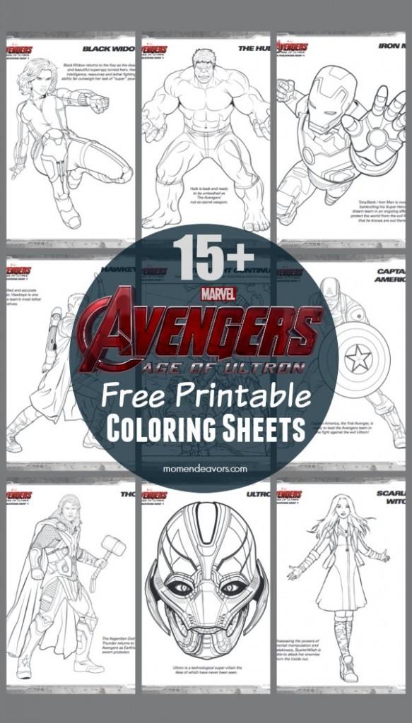 Avengers Age Of Ultron Free Printable Superhero Coloring