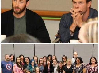 Avengers Interview Chris Evans & Chris Hemsworth