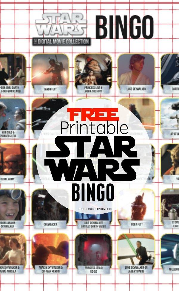 FREE Printable Star Wars Activities – Bingo & Movie Trivia