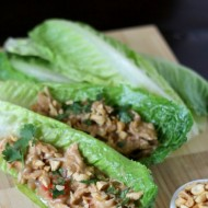 Slow Cooker Thai Chicken Lettuce Wraps