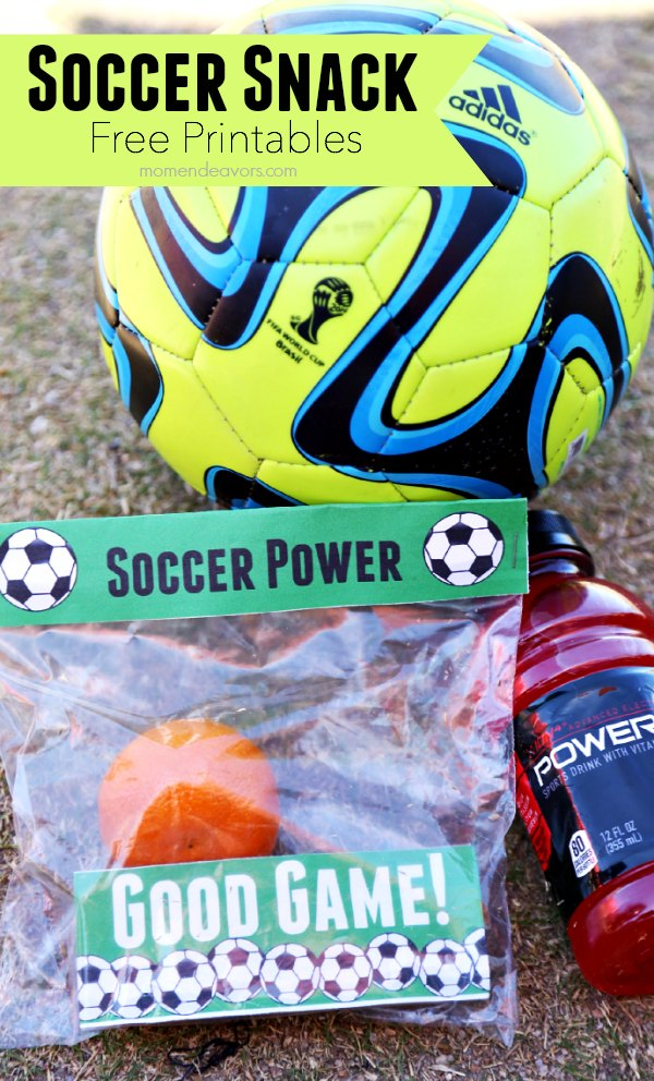 Soccer Snack Free Printables