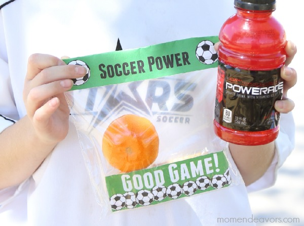 Soccer Snack Kit Printables #SlidelineHero