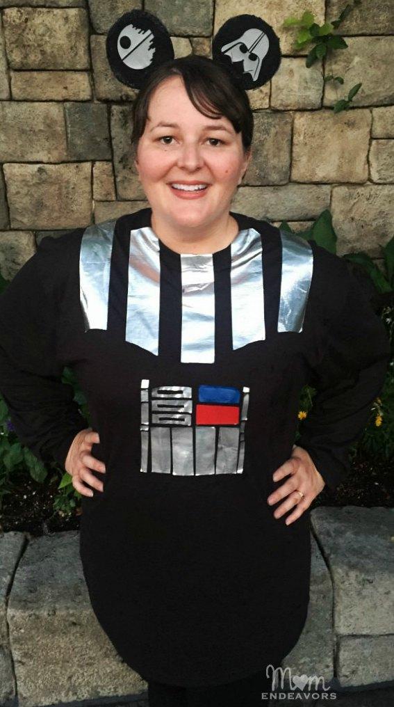 DIY Darth Vader runDisney outfit