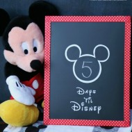 Disney Trip Countdown – DIY Washi Tape Chalkboard