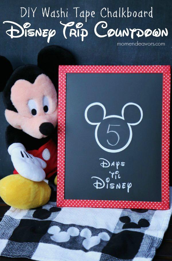 DIY Disney Trip Chalkboard Countdown2