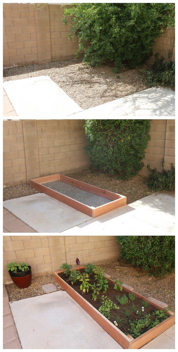 DIY Garden Area Before & After