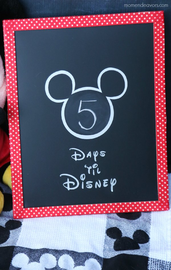 Disney Trip Countdown Diy Washi Tape Chalkboard