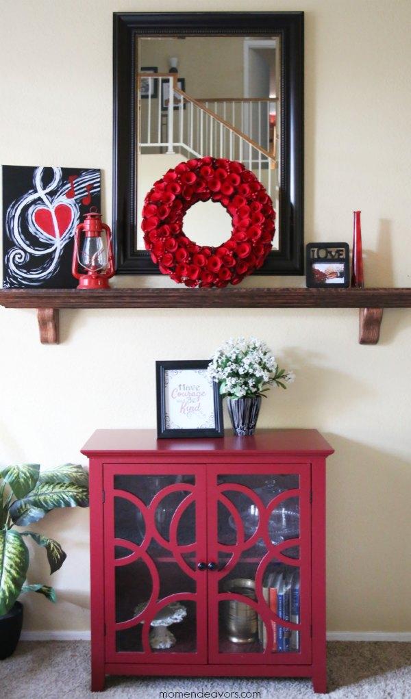 Red & Black room decor