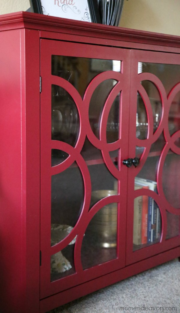 Red Sauder Cabinet
