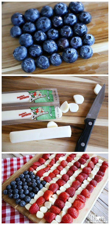American Flag Snack Platter