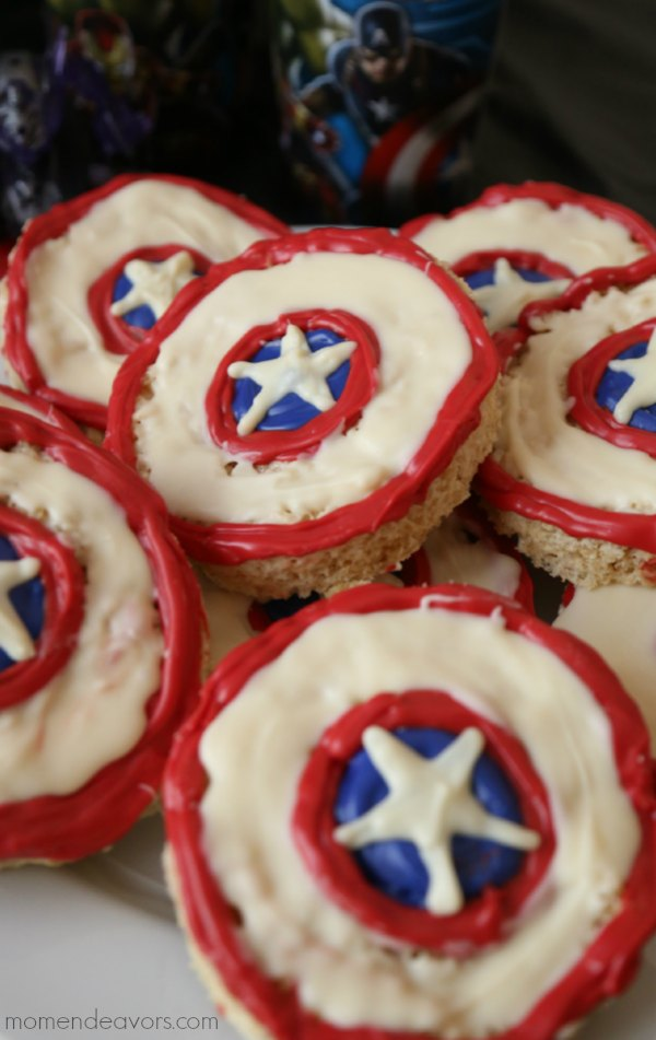 Captain America Shield Rice Krispie Treats
