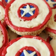 No-Bake Captain America Shield Treats