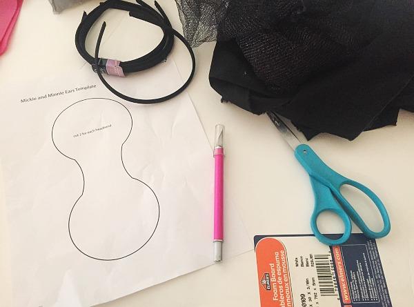 DIY Mickey Ears Supplies
