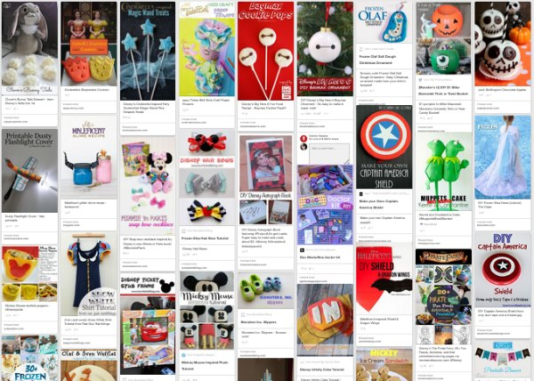 Disney Crafts Pinterest Board