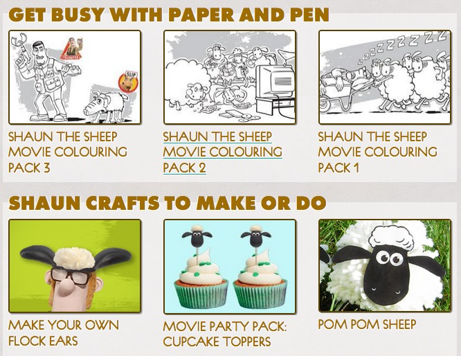 Shaun The Sheep Movie Printables & Crafts