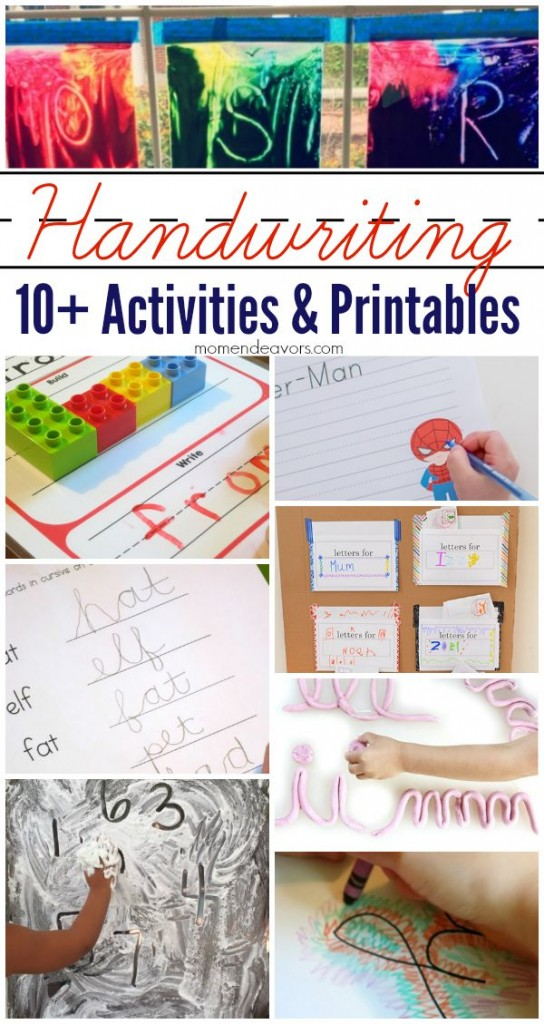10  fun handwriting activities and printables
