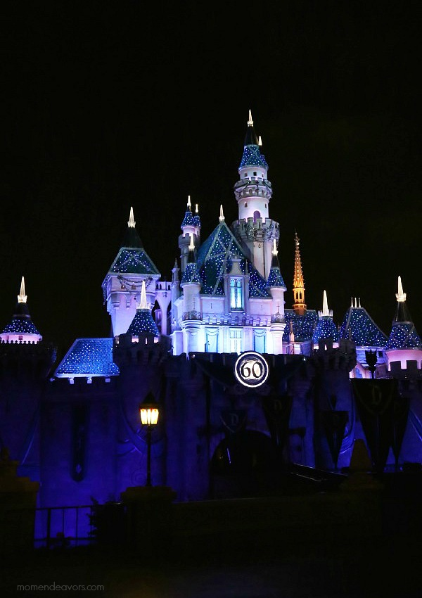 Disneyland 60 Castle at Night