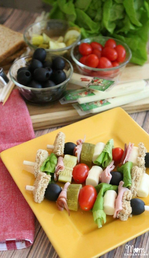 Easy Sandwich Kabobs