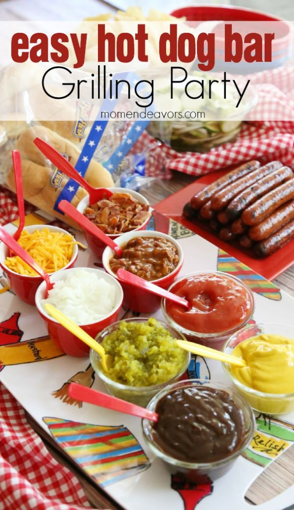 Host A Grilling Party Easy Hot Dog Bar