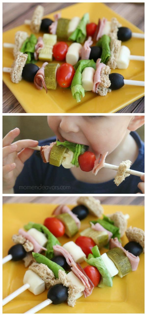 Kid Food Sandwich Kabobs