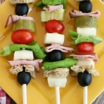 Sandwich Kabobs - Easy Lunch for Kids